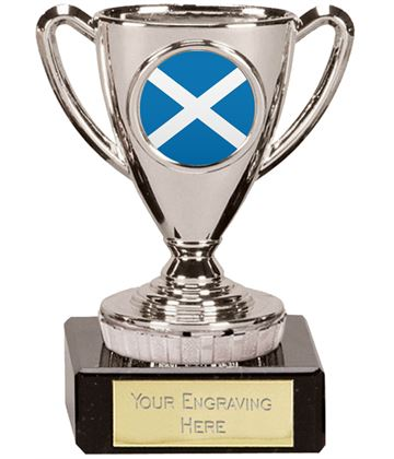 "Scottish Trophy Mini Cup Silver 10cm (4"")"