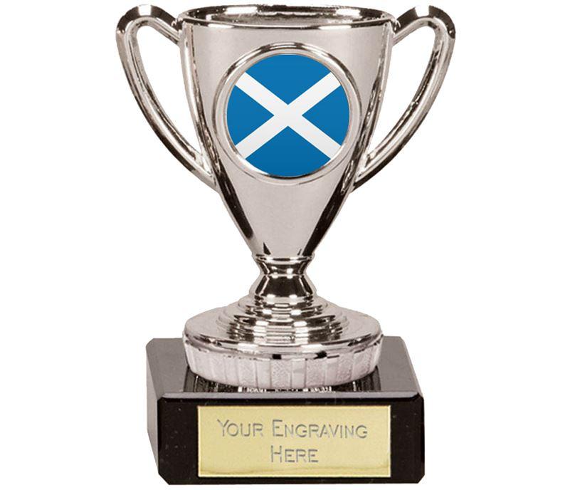 "Scottish Trophy Mini Cup Silver 10cm (4"")"