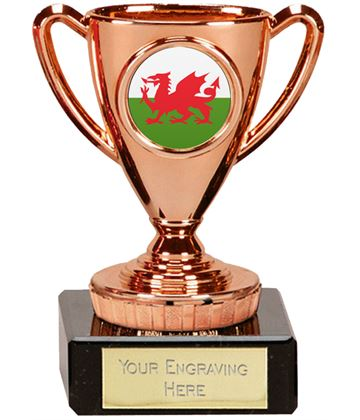 "Welsh Trophy Mini Cup Bronze 10cm (4"")"