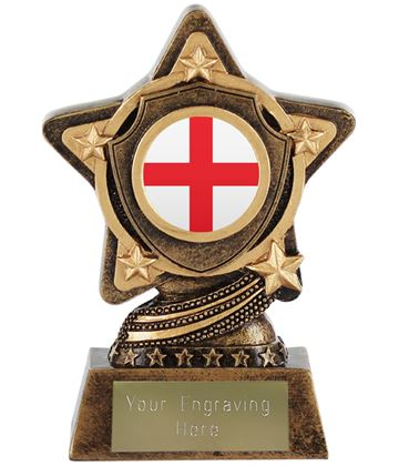 "English Flag Trophy by Infinity Stars 10cm (4"")"