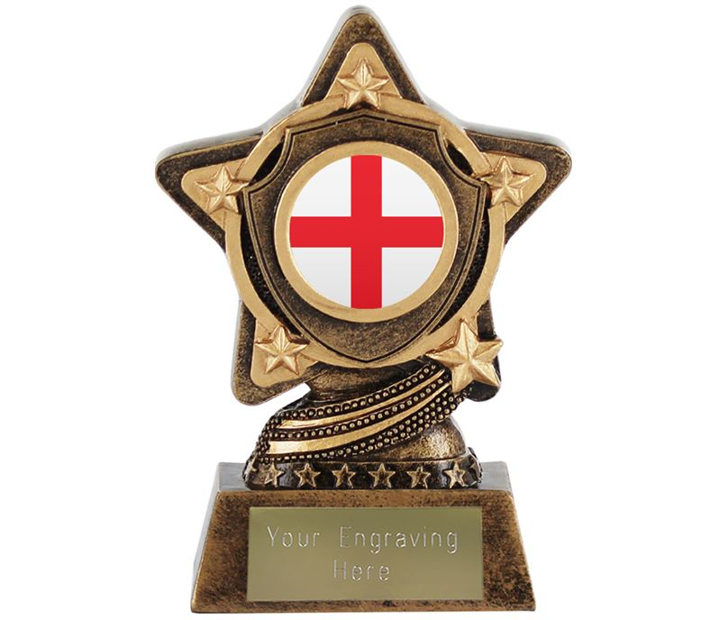 """English Flag Trophy by Infinity Stars 10cm (4"""")"""