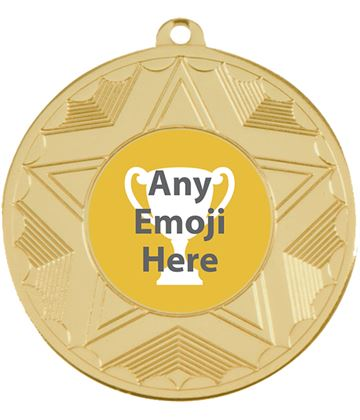 "Horizon Emoji Medal Gold 50mm (2"")"