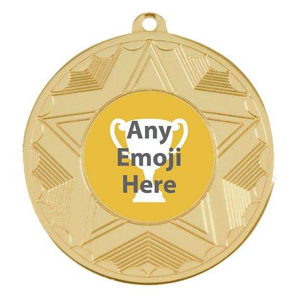 "Horizon Emoji Medal Gold 50mm (2"")"