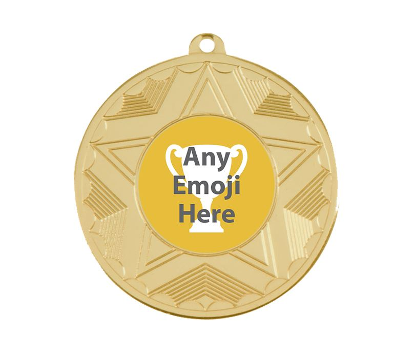 Horizon Emoji Medal Gold 50mm (2