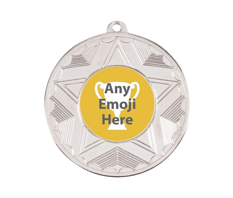"Horizon Emoji Medal Silver 50mm (2"")"