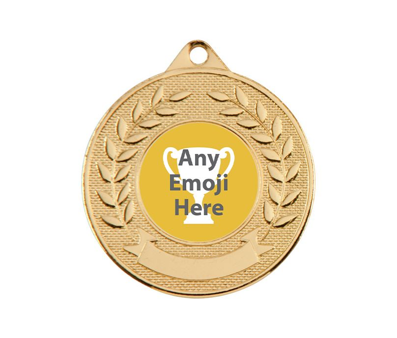 """Valour Emoji Medal Gold 50mm (2"""")"""