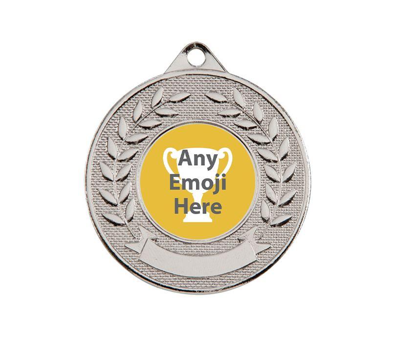 "Valour Emoji Medal Silver 50mm (2"")"