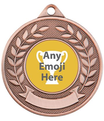 "Valour Emoji Medal Bronze 50mm (2"")"