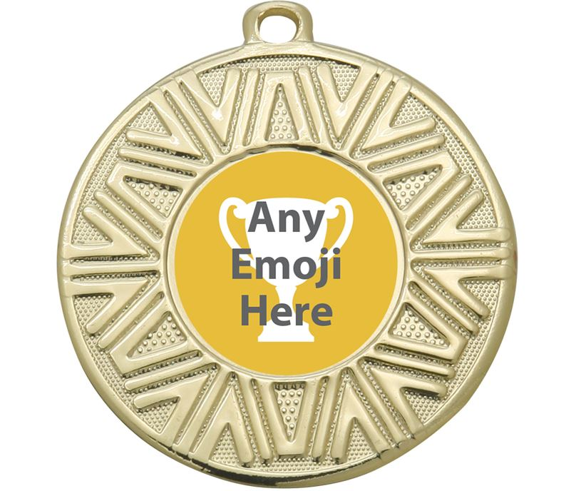 "Achievement Emoji Medal Gold 50mm (2"")"