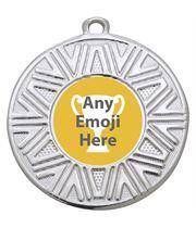"Achievement Emoji Medal Silver 50mm (2"")"