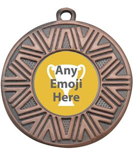 "Achievement Emoji Medal Bronze 50mm (2"")"