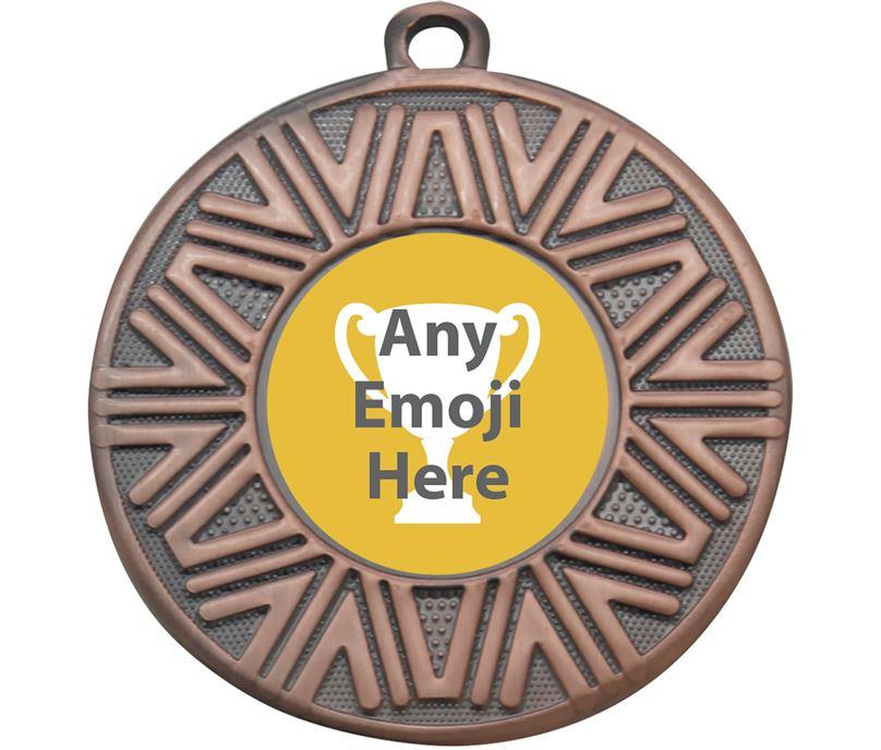 """Achievement Emoji Medal Bronze 50mm (2"""")"""