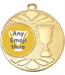"""Trophy Emoji Medal Gold 50mm (2"""")"""
