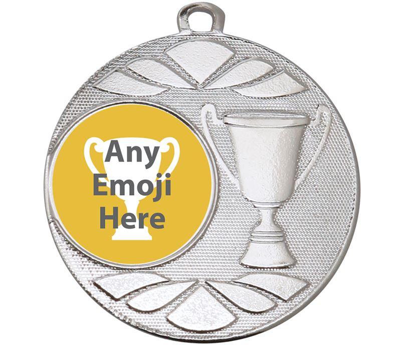 "Trophy Emoji Medal Silver 50mm (2"")"