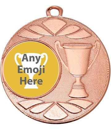 """Trophy Emoji Medal Bronze 50mm (2"""")"""