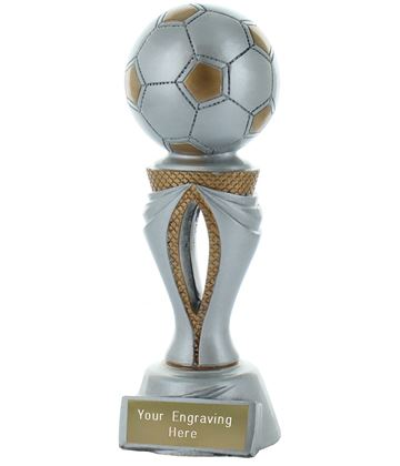 "Football Tower Trophy Silver & Gold 17cm (6.75"")"