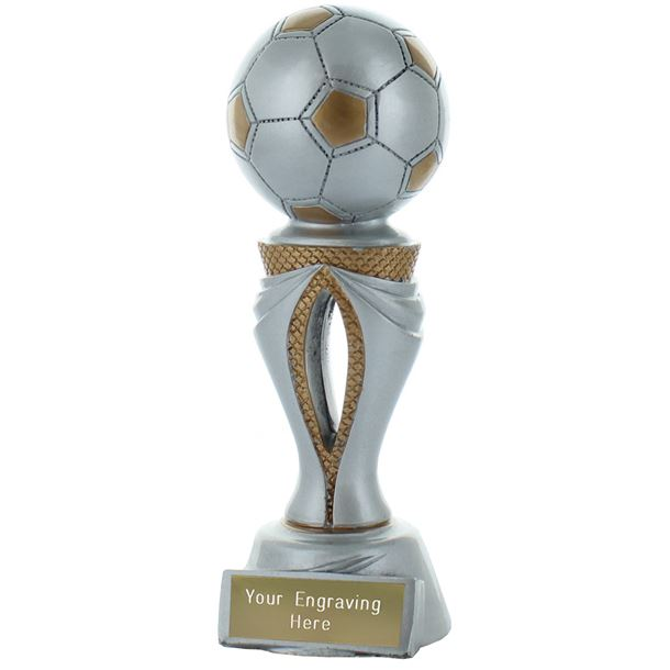 """Football Tower Trophy Silver & Gold 17cm (6.75"""")"""