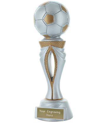 "Football Tower Trophy Silver & Gold 20cm (8"")"