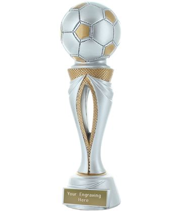 """Football Tower Trophy Silver & Gold 23cm (9"""")"""