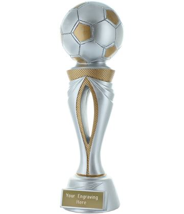 "Football Tower Trophy Silver & Gold 26cm (10.25"")"