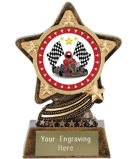"""Karting Trophy by Infinity Stars 10cm (4"""")"""