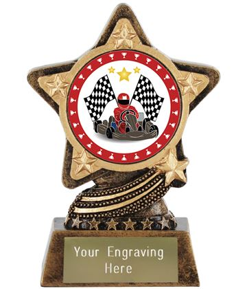 "Karting Trophy by Infinity Stars 10cm (4"")"