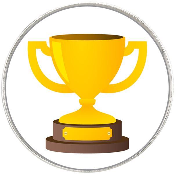 "Gold Trophy Cup Emoji Pin Badge 2.5cm (1"")"