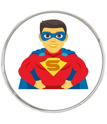 "Man Superhero Emoji Pin Badge 2.5cm (1"")"