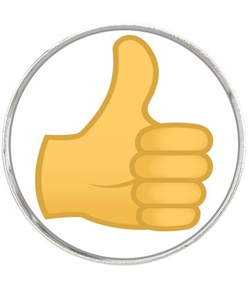 "Thumbs Up Emoji Pin Badge 2.5cm (1"")"