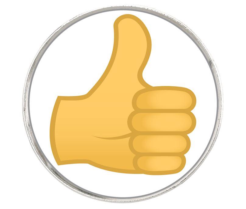 "Thumbs Up Emoji Pin Badge 2.5cm (1"")"