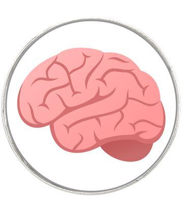 "Brain Emoji Pin Badge 2.5cm (1"")"