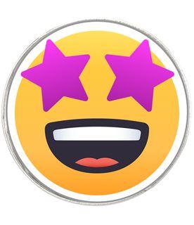 "Star Struck Emoji Pin Badge 2.5cm (1"")"