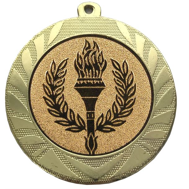 "Laurel Wreath Achievement Medal Gold 70mm (2.75"")"