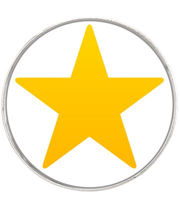 "Star Emoji Pin Badge 2.5cm (1"")"