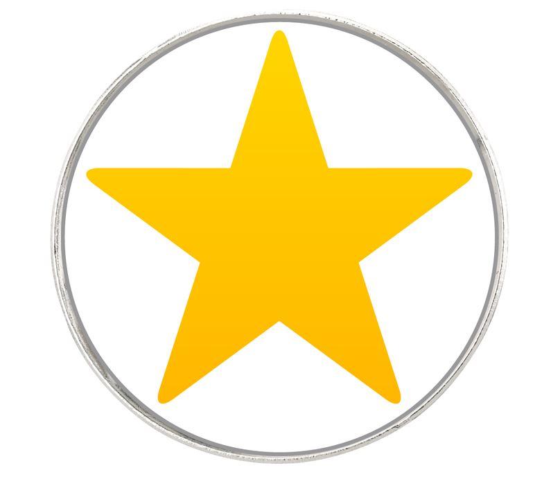 """Star Emoji Pin Badge 2.5cm (1"""")"""