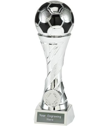 "Football Trophy Heavyweight Sculpture Silver 19cm (7.5"")"