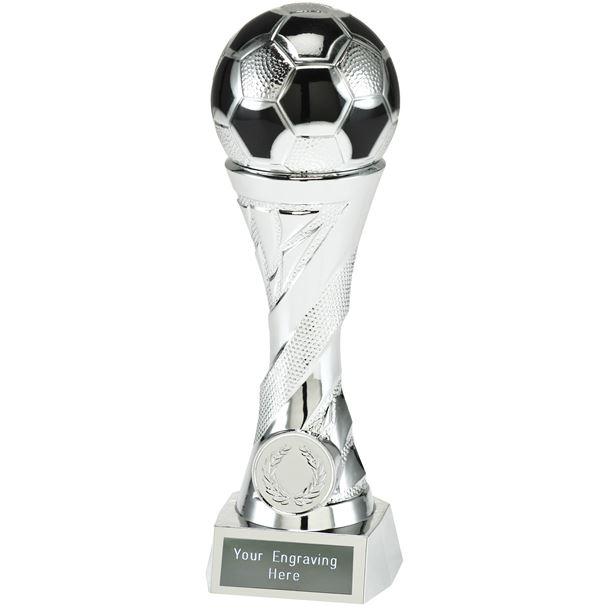 """Football Trophy Heavyweight Sculpture Silver 19cm (7.5"""")"""