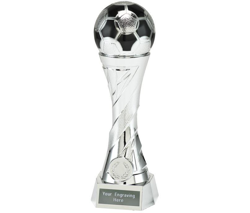 """Football Trophy Heavyweight Sculpture Silver 23cm (9"""")"""