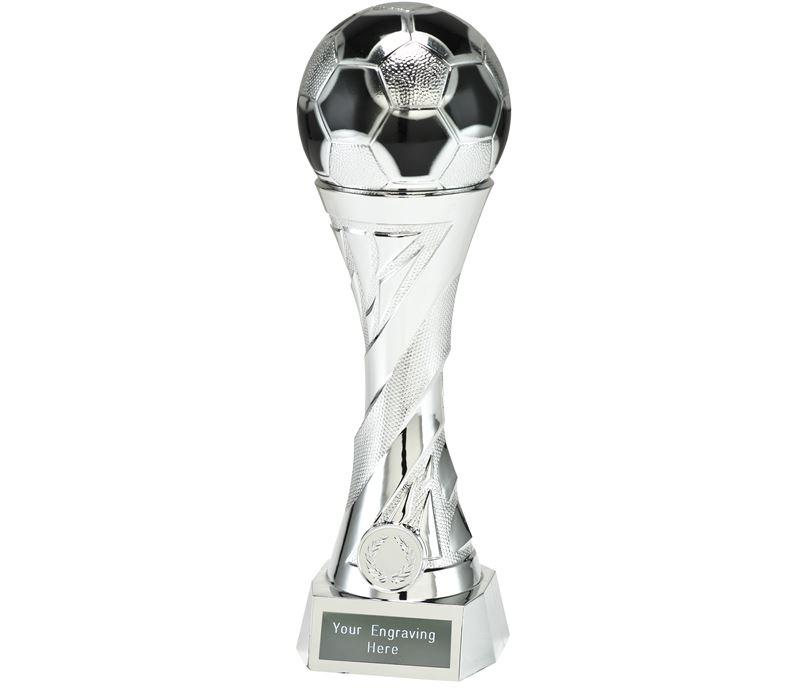"""Football Trophy Heavyweight Sculpture Silver 27cm (10.5"""")"""