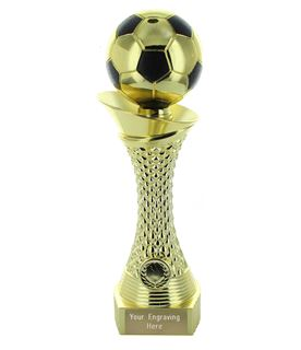 "Football Trophy Heavyweight Tower Gold Shine 23cm (9"")"