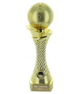 "Basketball Trophy Heavyweight Tower Gold Shine 23cm (9"")"