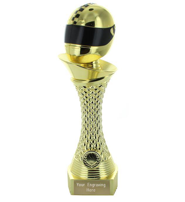 "Motorsport Trophy Heavyweight Tower Gold Shine 28cm (11"")"