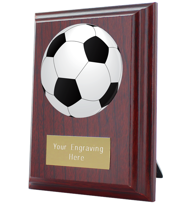 "Football Plaque Award 10cm (4"")"