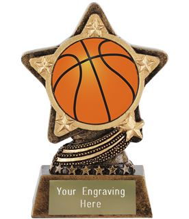 """Centre Basketball Trophy by Infinity Stars 10cm (4"""")"""