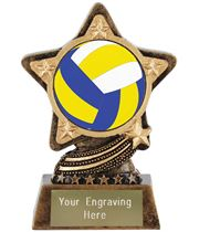 "Centre Volleyball Trophy by Infinity Stars 10cm (4"")"