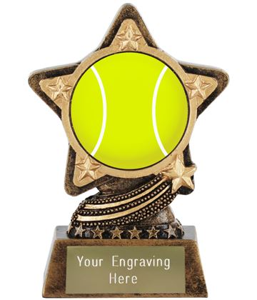 "Centre Tennis Trophy by Infinity Stars 10cm (4"")"