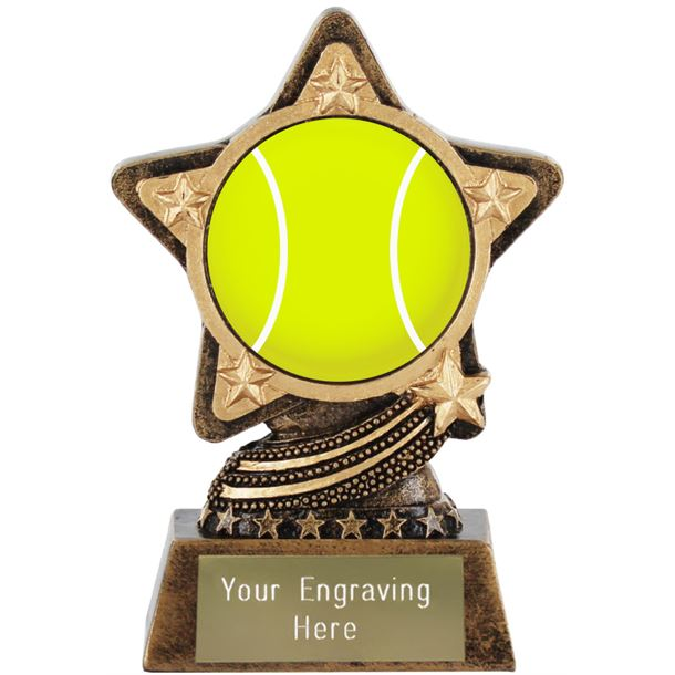 """Centre Tennis Trophy by Infinity Stars 10cm (4"""")"""