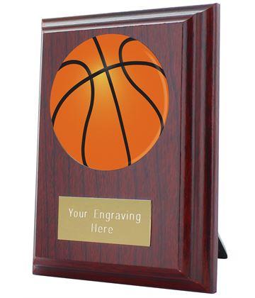 "Basketball Plaque Award 10cm (4"")"