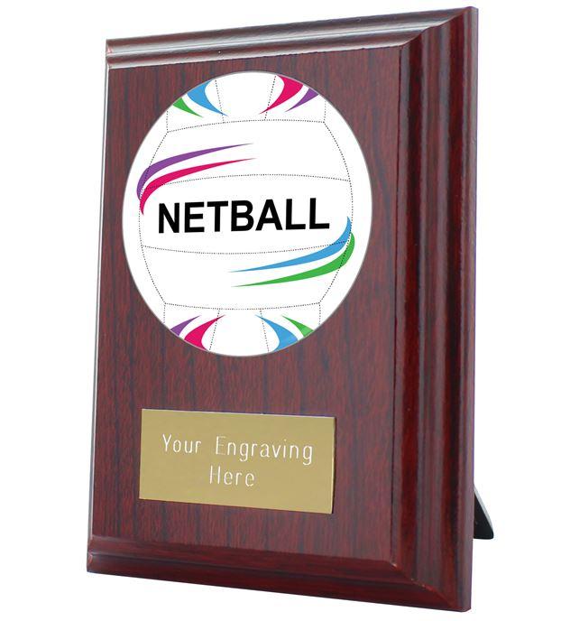 "Netball Plaque Award 10cm (4"")"