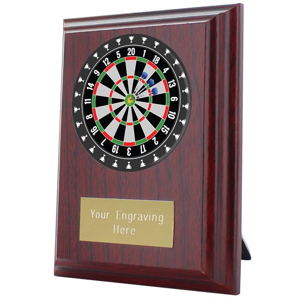 "Darts Plaque Award 10cm (4"")"